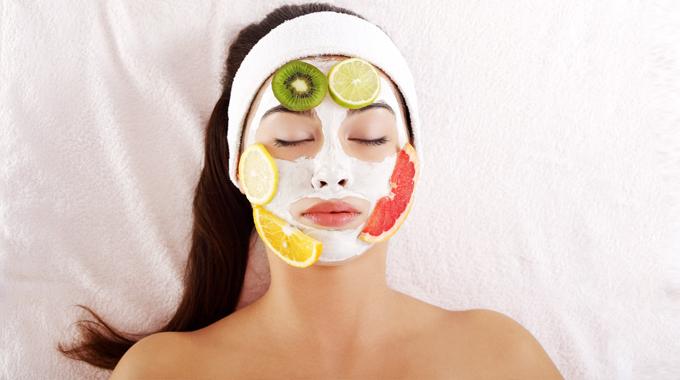 Fruchtige Gesichtsmasken